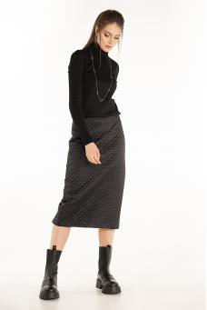 Стеганая юбка, черный