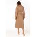 Стеганое пальто из эко-кожи, карамель