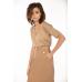 Классическая юбка из эко-кожи, карамель
