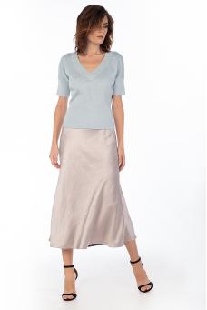 Сатиновая юбка, лиловый