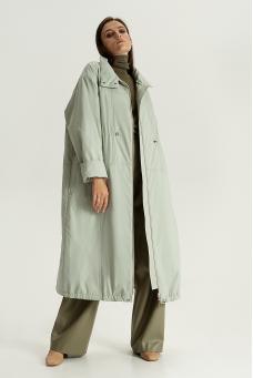 Длинная куртка, фисташковый