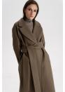 Пальто из шерсти, мокко