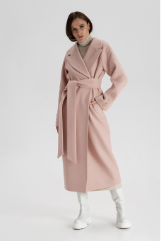 Пальто из шерсти, пыльно-позовый