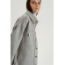 Пальто-рубашка, серый