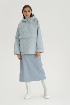Куртка-худи, серо-голубой