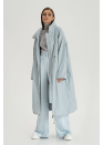 Длинная куртка, серо-голубой