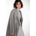 Шерстяное пальто без подкладки, серый
