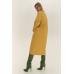 Прямое стеганое пальто, желтый