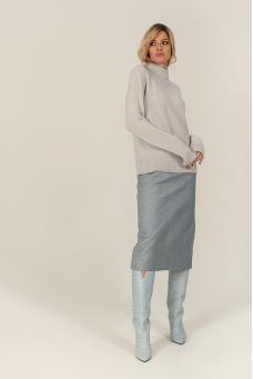 Кашемировый свитер, серо-голубой