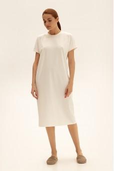 Платье-футболка, молочный