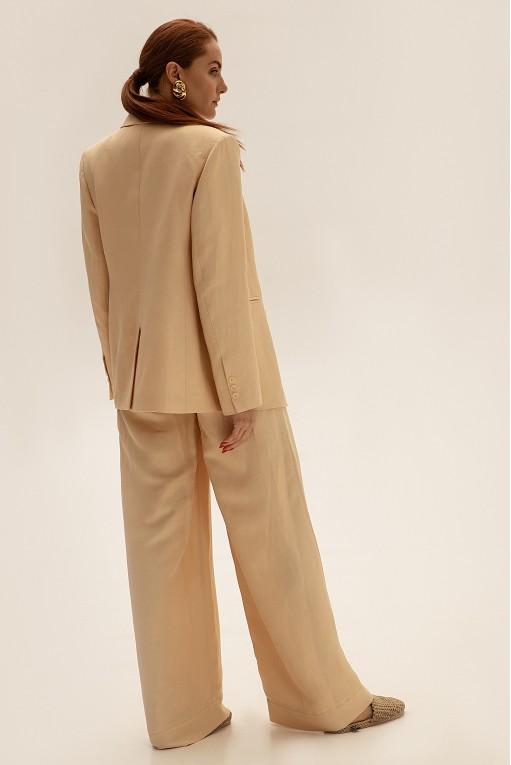 Костюм с брюками-палаццо, молочный