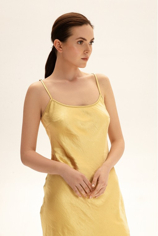 Sleep dress c бретелями-цепями, желтый