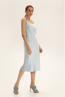 Sleep dress cо съемным декором на спине, голубой