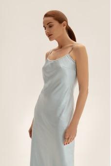 Sleep dress c бретелями-цепями, голубой