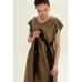 Платье миди с контрастным декором, оливковый