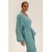 Длинное кимоно из льна, бирюзовый
