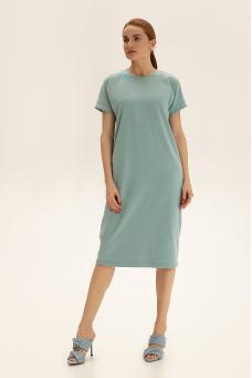 Платье-футболка, бирюзовый